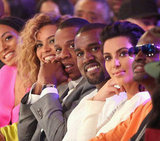 Beyoncé, Jay-Z, Kanye, and Kim all sat together at the BET Awards.