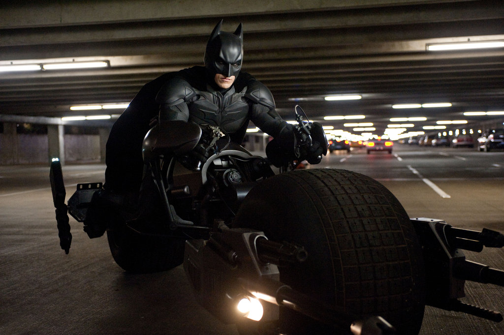 Christian Bale in The Dark Knight Rises.  Photo courtesy of Warner Bros.