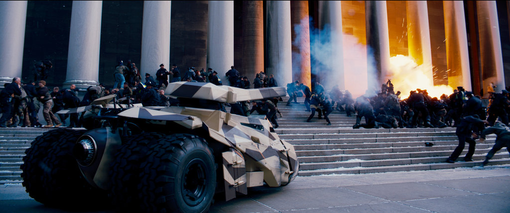 A scene from The Dark Knight Rises.  Photo courtesy of Warner Bros.