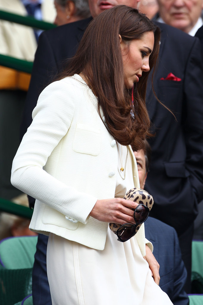 Kate Middleton  looked gorgeous as always while in the stands at Wimbledon.
