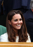 Kate Middleton was all smiles in the crowd.