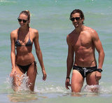 Candice Swanepoel and boyfriend Hermann Nicoli showed off their toned bodies in Miami on July 5.