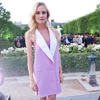 Diane Kruger Purple Tuxedo Vest Dress