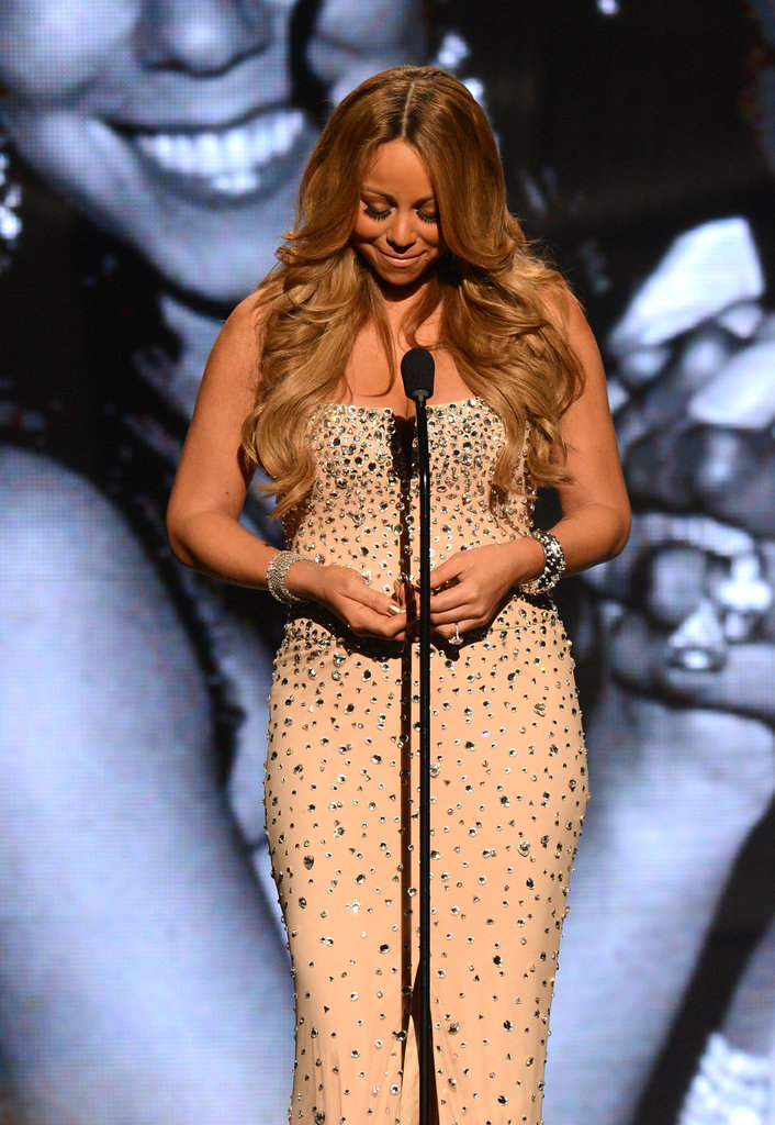 Mariah Carey graciously spoke at the BET Awards in LA.