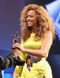 Beyoncé Knowles accepted an award at the BET Awards in LA.