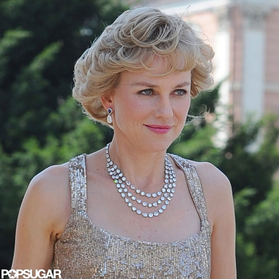 Naomi Watts got into character as Princess Diana.