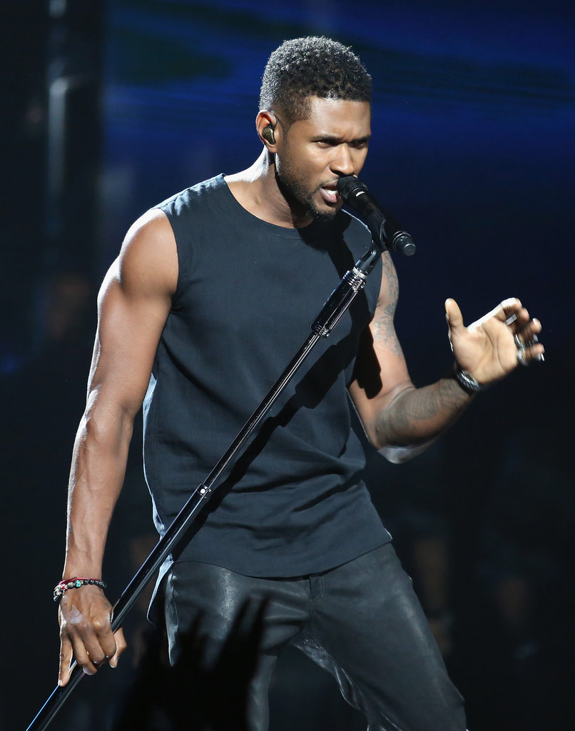 Usher performed at the BET Awards in LA.