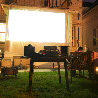 How to Project a Movie Outside