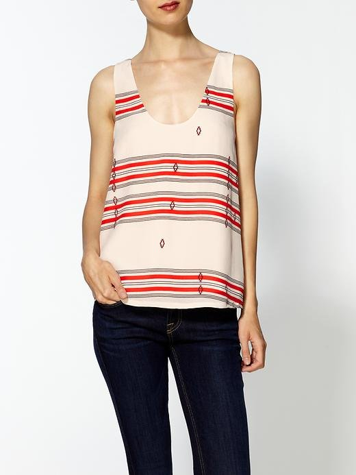 """I picture wearing this silky top tucked into a pair of high-waist black cutoffs, but it could easily be just as cute with skinny jeans and sandals."" — Marisa Tom, associate editor Joie Adonis Silk Print Top ($138)"