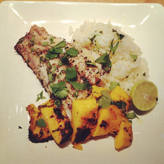 Grilled Red Snapper and Mango