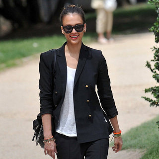Jessica Alba Wearing Friendship Bracelets