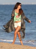 Selena Gomez frolicked on the beach.
