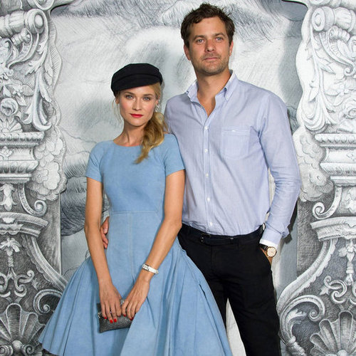 Diane Kruger and Joshua Jackson at Chanel Show in Paris 2012