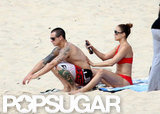 Casper Smart and Jennifer Lopez hung out on the beach.