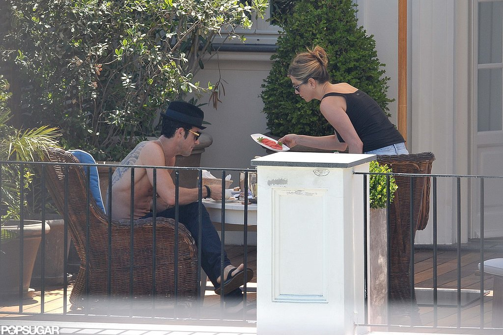 Jennifer Aniston Flaunts Bikini Body and Shows PDA With Shirtless Justin