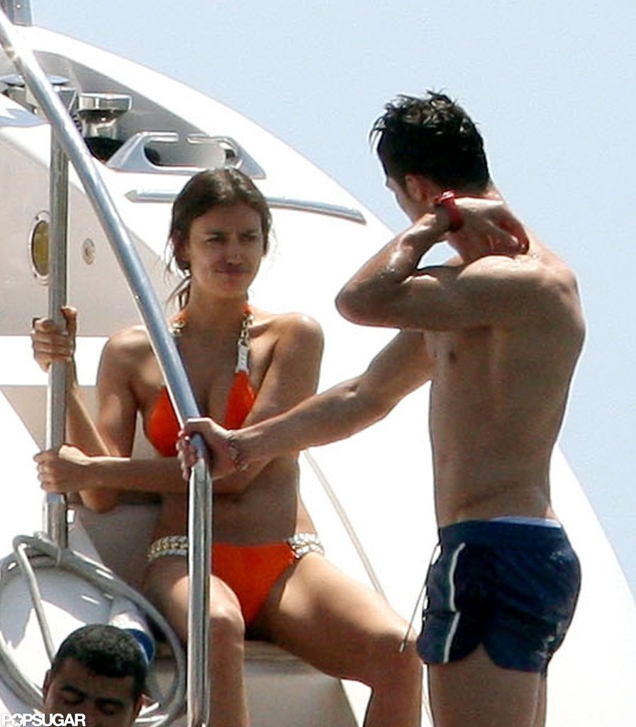 Shirtless Cristiano Ronaldo and Bikini-Clad Irina Shayk Share Sexy PDA in St. Tropez