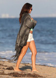 Selena Gomez attended Ashley Tisdale's birthday celebration on the beach in Malibu.