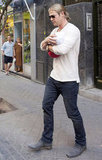 Chris Hemsworth cradled India in his arms while in Madrid.