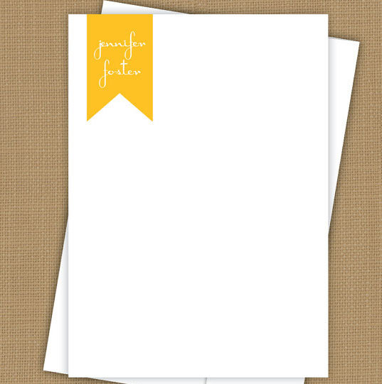 Monogram Ribbon Note Card