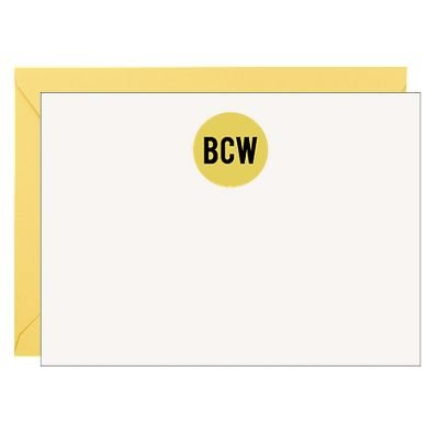 Sticker Monogram Stationery