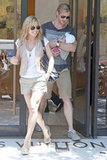 Chris Hemsworth and Elsa Pataky took baby India to Madrid in July.