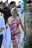 Naomi Watts strolled on set.