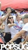 Ben Affleck and Jennifer Garner took Seraphina to watch Violet in a Pacific Palisades Fourth of July parade.