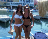 Sofia Vergara posed in a white bikini with a friend in July 2010.  Source: Twitter user SofiaVergara