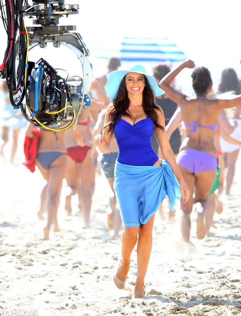 In March 2011, Sofia Vergara slipped into a sexy suit for a shoot in Venice beach.