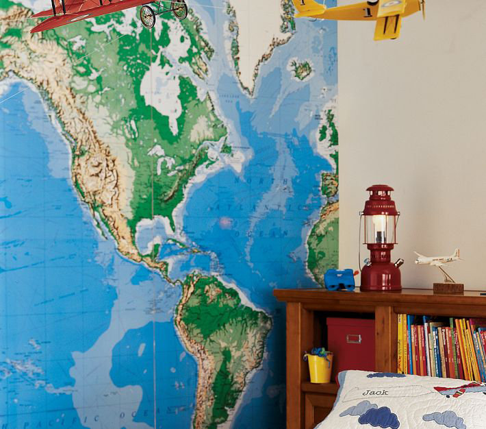 Jumbo World Map Mural ($199)