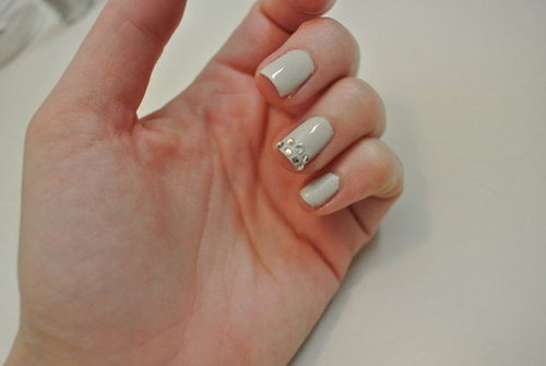 DIY Nail Art With Diamantes and Nail Polish