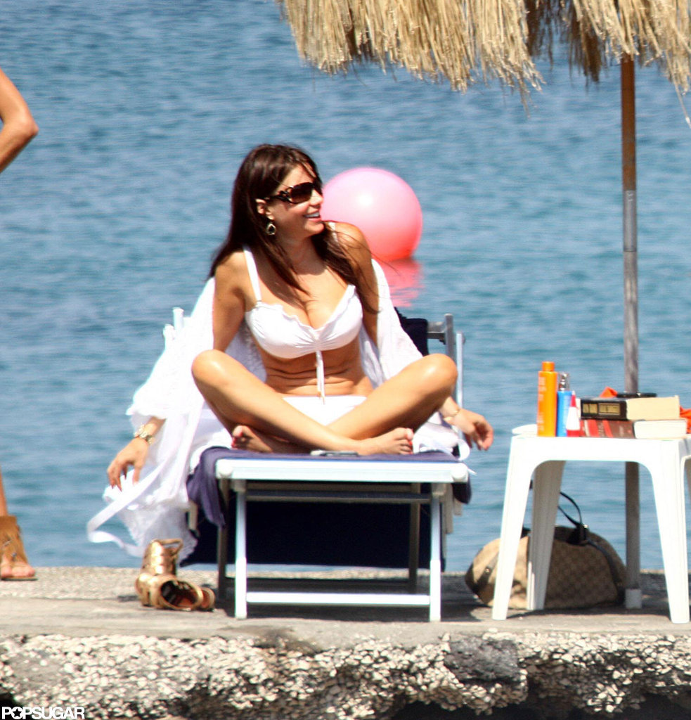 Sofia Vergara lounged by the ocean in Italy during a July 2010 trip.