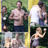 Blake Lively and Shirtless Ryan Reynolds Kiss on Family Fourth