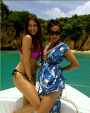 Sofia Vergara and a friend posed on the water in May 2012.  Source: Who Say user Sofia Vergara