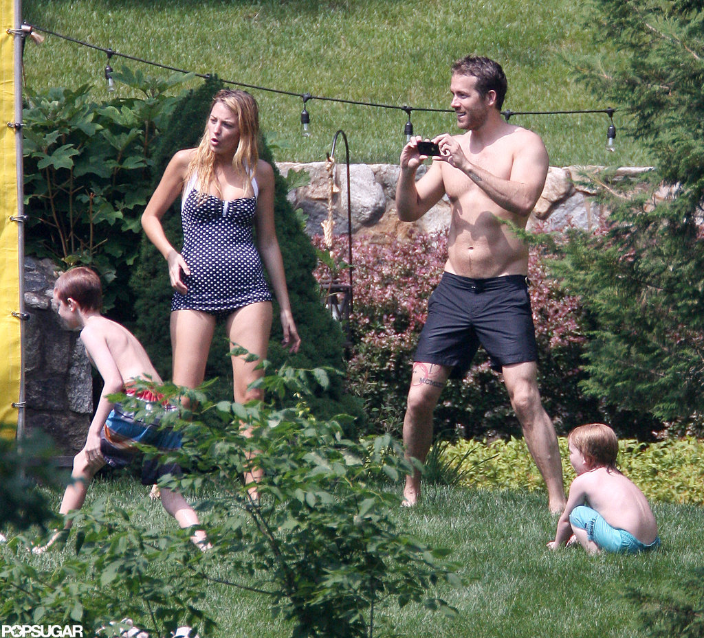 Ryan Reynolds was shirtless with Blake Lively in New York to celebrate the Fourth of July.
