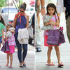Katie Holmes and Suri Cruise Pictures Going to Alice's Tea Cup Restaurant in NYC