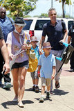 Britney Spears and Jason Trawick took Sean Preston and Jayden James to Maui in July.