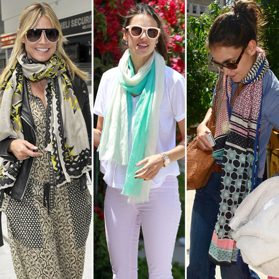 See How 10 Celebrities Work Their Summer Scarves