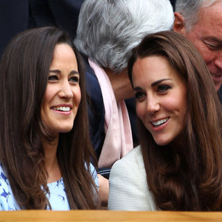 Kate and Pippa Middleton at Wimbledon (Video)