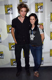 Robert Pattinson and Kristen Stewart got together for a photo in 2008.