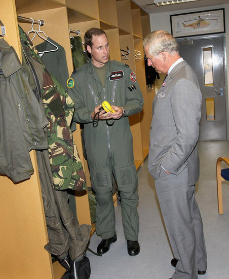 Prince Charles Drops by For a Visit at Prince William's Workplace