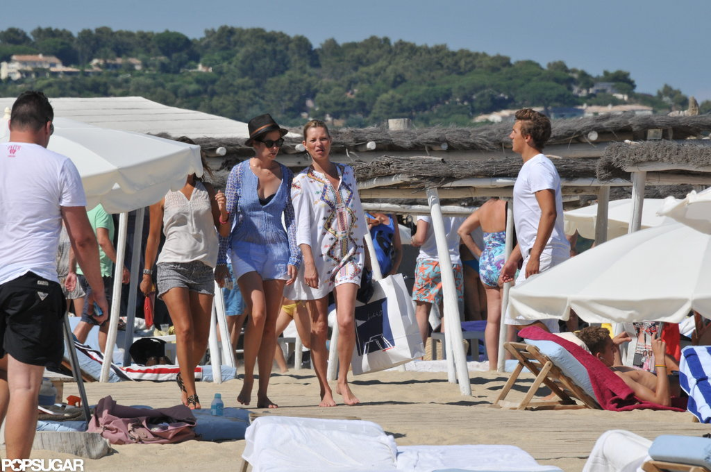 Kate Moss took a trip to the beach with a few girl friends in France.