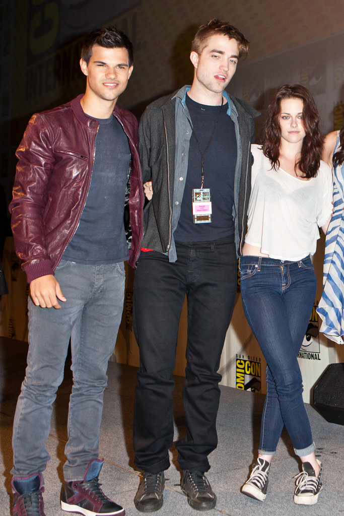 Taylor Lautner, Robert Pattinson, and Kristen Stewart posed together in 2011.