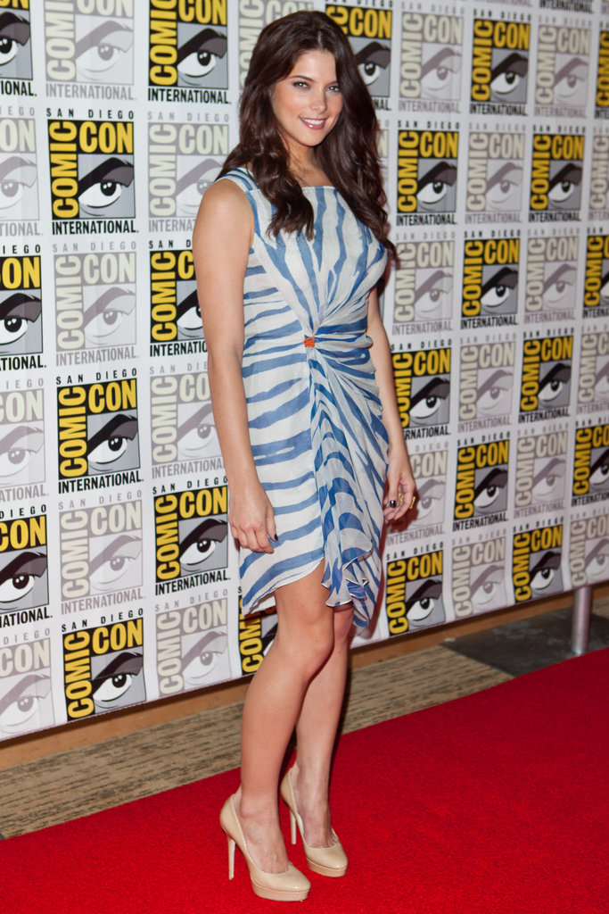 Ashley Greene rocked a blue striped dress in 2011.
