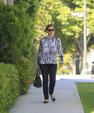 Jennifer Garner wore a black-and-white tie-dye shirt in LA.