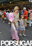 Heidi Klum walked through Times Square with her kids.