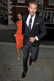 Victoria Beckham and David Beckham went to a birthday party.