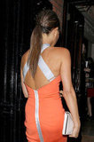 The back of Victoria Beckham's dress.