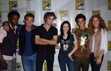 The cast all posed together while promoting Twilight in 2008.