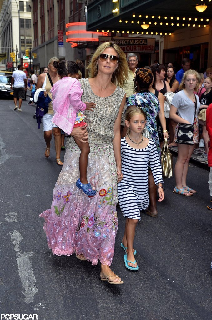 Heidi Klum and her kids enjoyed a walk through Times Square in NYC.